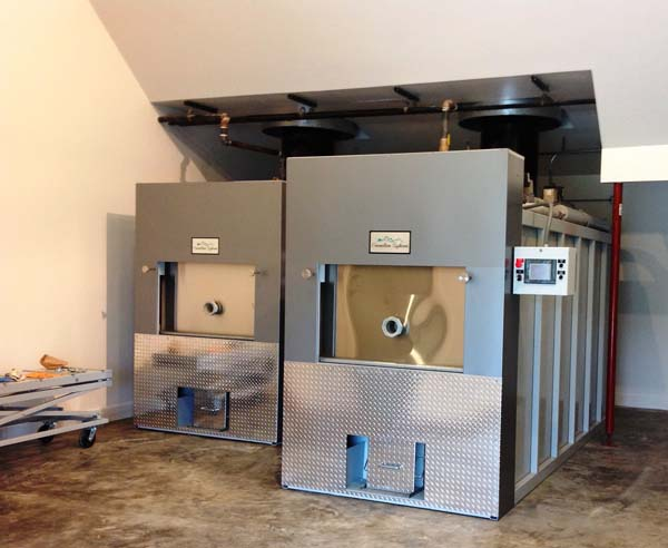 CFS2300 Human and Pet crematory with viewing area. Cremation Systems will install both units for the price of a single unit when purchased and delivered together.